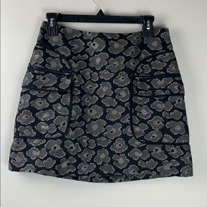 Marc by Marc Jacobs black and grey floral skirt